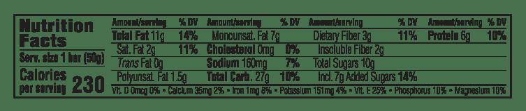 Chocolate Hazelnut Butter Nutritional Facts