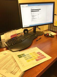 Each morning, the Assessors pour over criminal history data to complete PSA risk assessments.