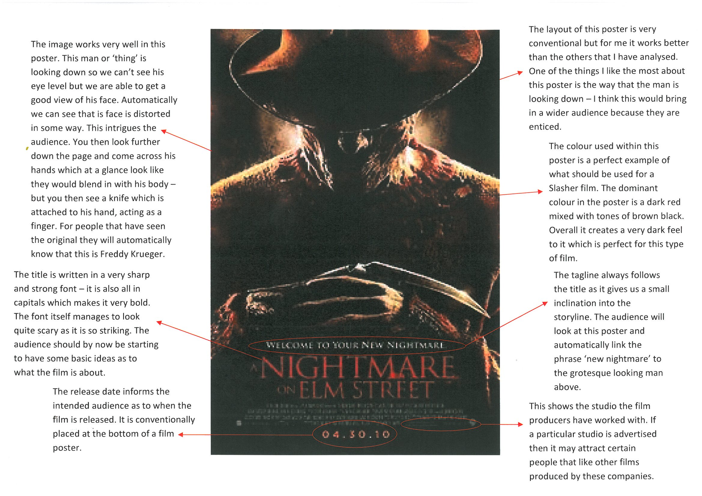nightmare on elm street poster a2