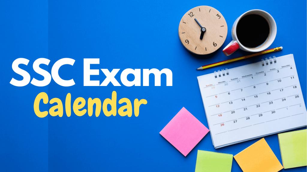 SSC Exam Calendar 2020