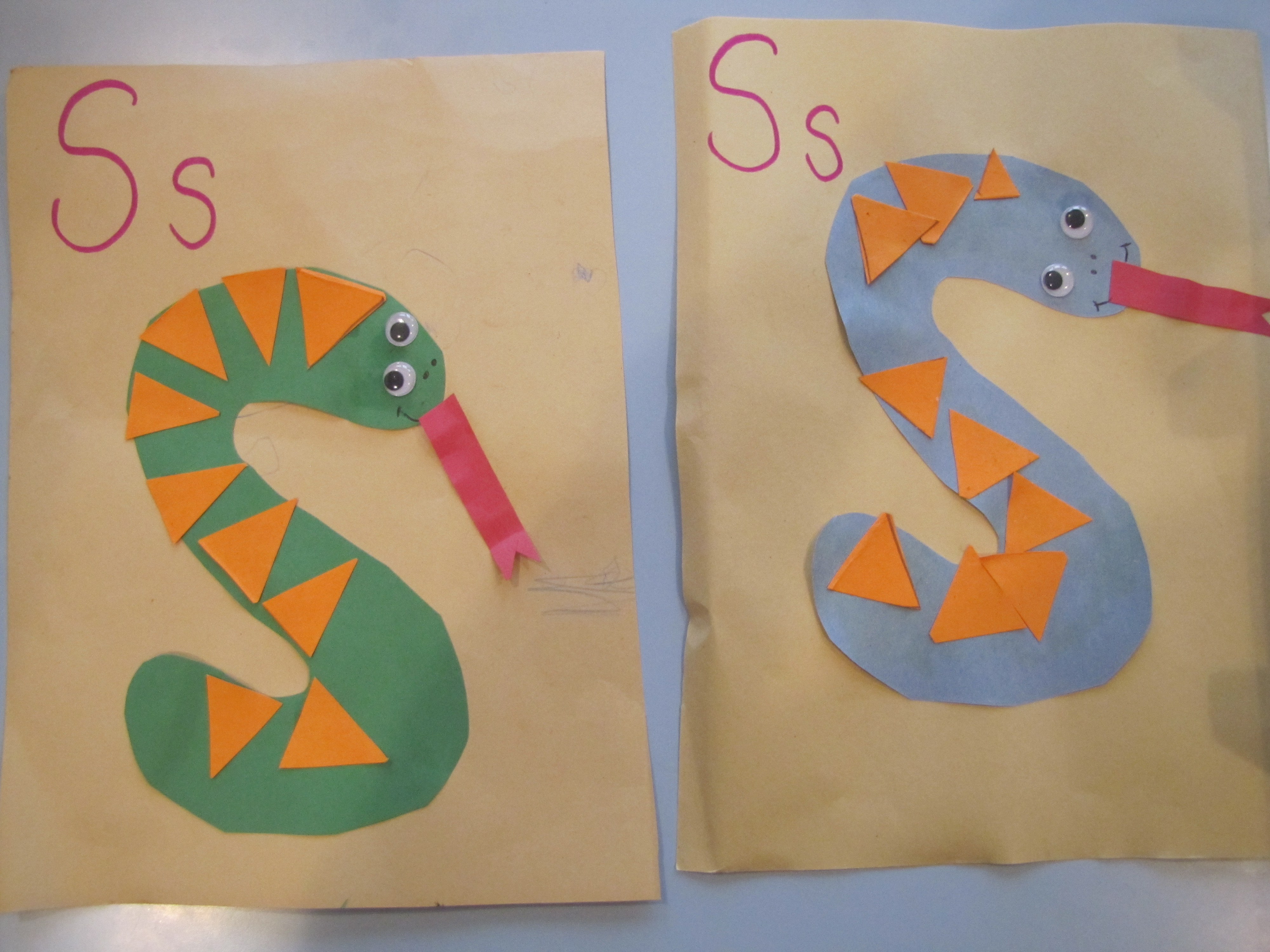 Letter S Projects Using Triangles