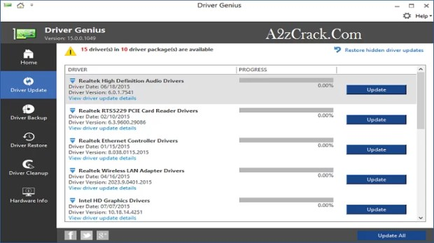 Driver Genius Pro 18 Crack + Patch Free Download Here | A2zCrack