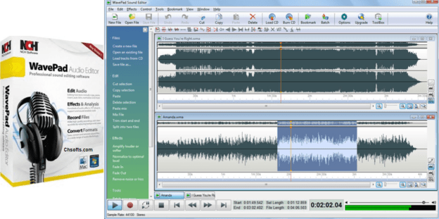 WavePad Sound Editor 8.33 Crack Full + Registration code