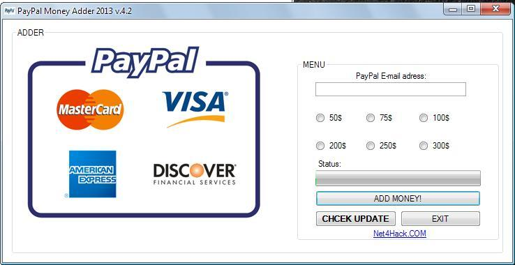 paypal money adder 2015 activation key
