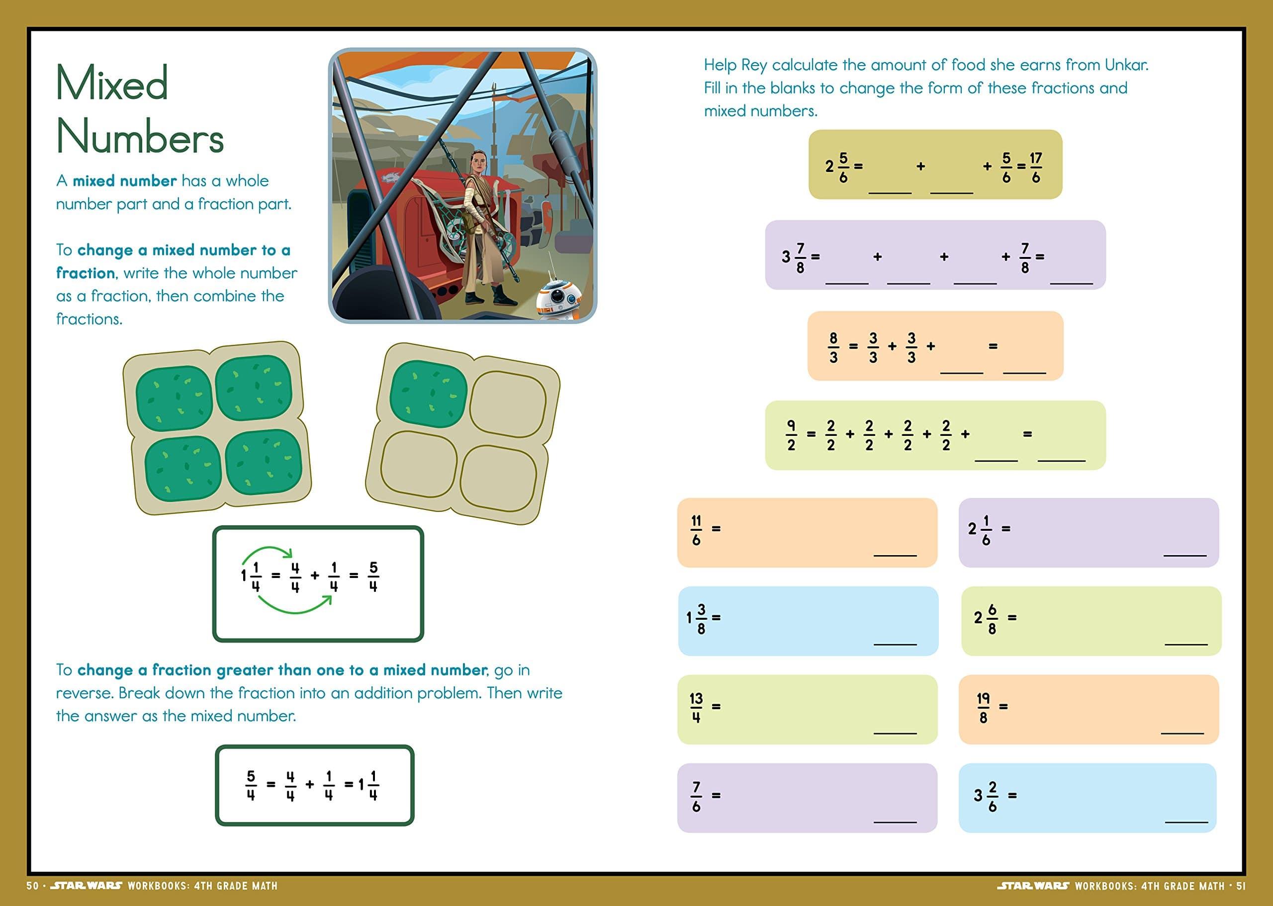 Star Wars Workbook 4th Grade Math