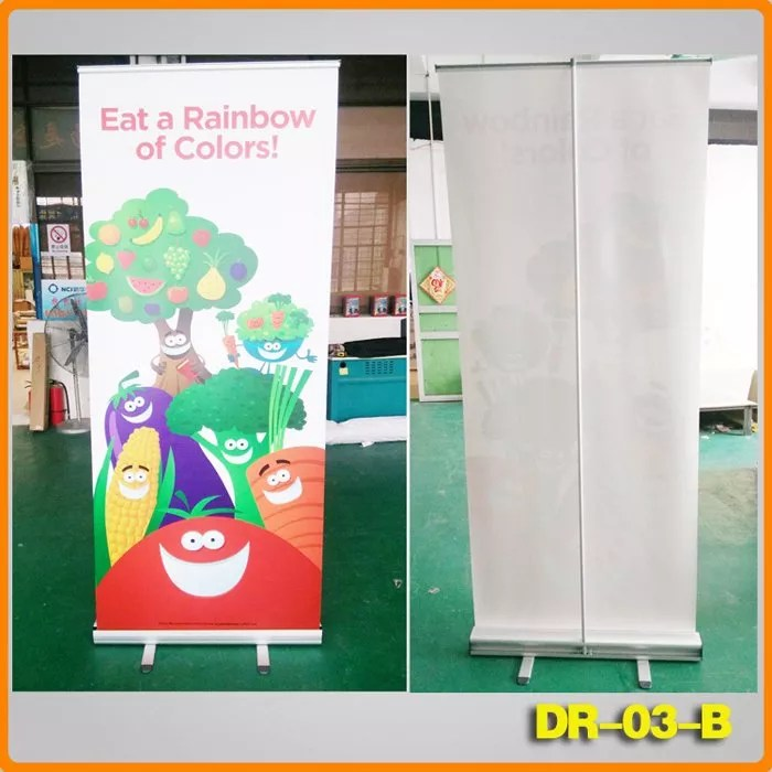 portable display rack retractable roll up banner stand