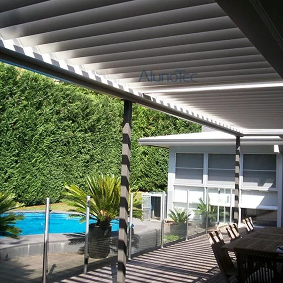 Wall Mounted Louvres Roof Pergola Kits Buy Wall Mounted
