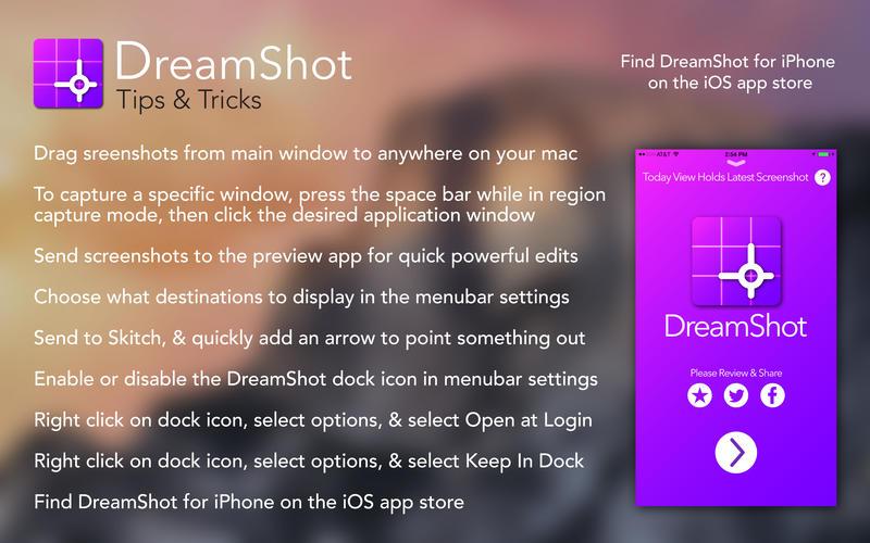 Dreamshot: Der Screenshot Shortcut Screenshot