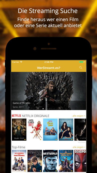 WerStreamt.es? Video-On-Demand Filme & Serien Screenshot
