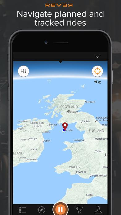Rever Motorrad-GPS: Entdecken, Tracken und Teilen. Screenshot