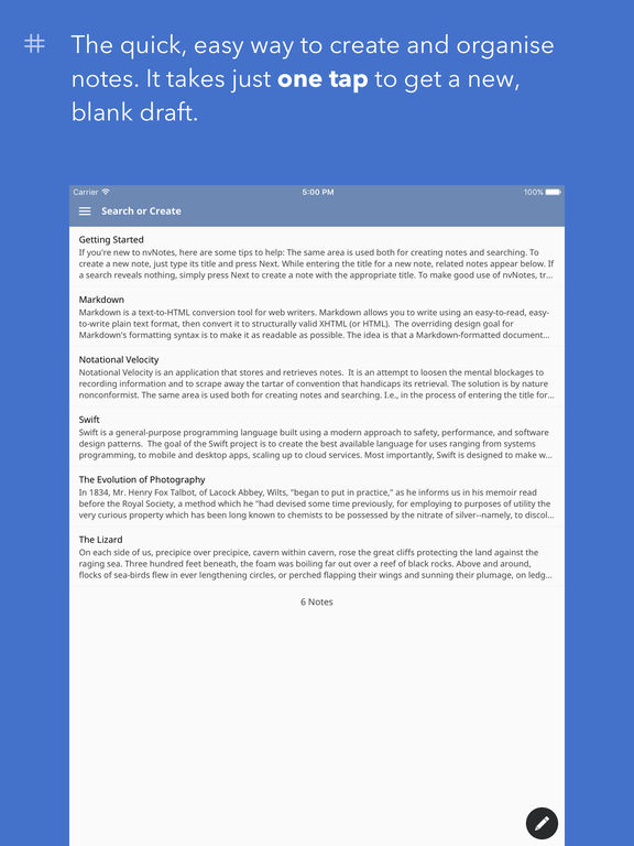 nvNotes - Note Taking & Writing App Screenshot
