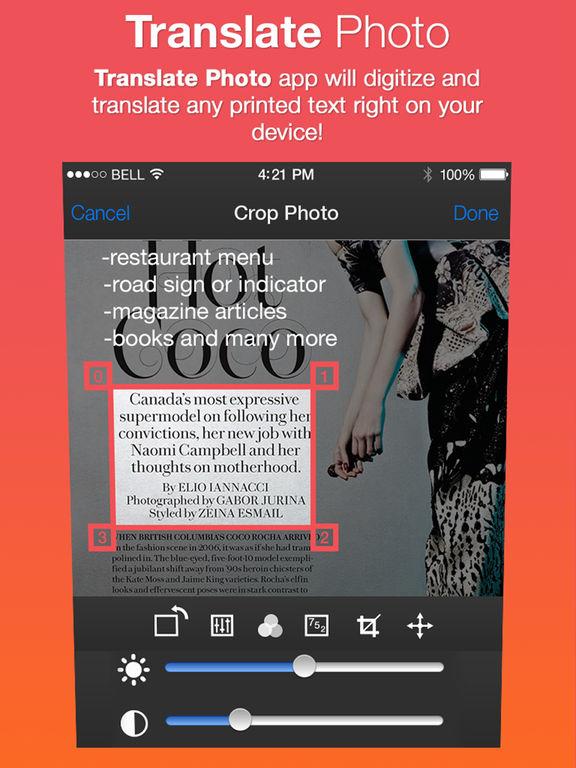 Translate Photo - OCR Camera Scanner & Translator iPad