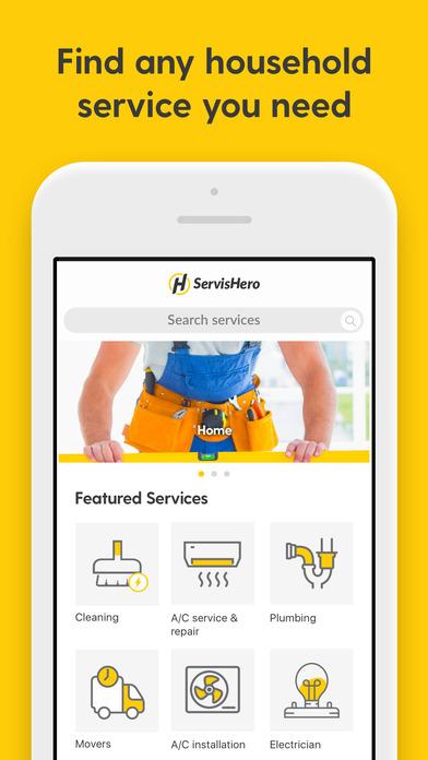ServisHero: On demand services Screenshot