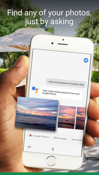 Screenshot do app Google Assistant -- get help anytime, anywhere