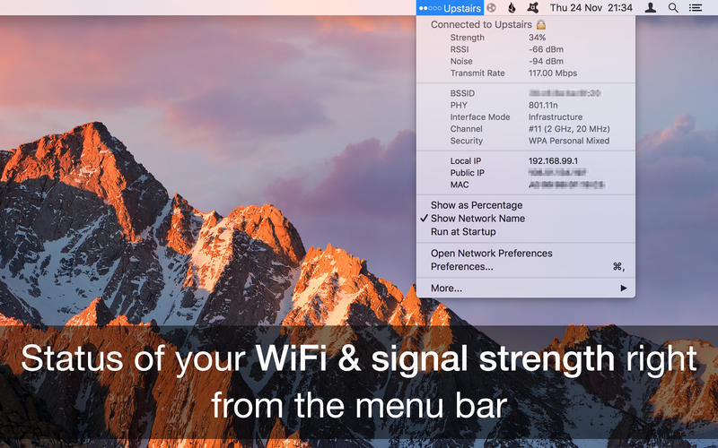 WiFi Signal Strength Explorer 1.8 Mac 破解版 - WiFi无线信号强度浏览器