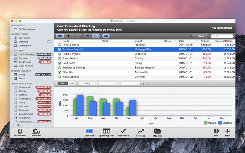 MoneyWell for Mac 3.0.6 破解版 - 财务管理软件