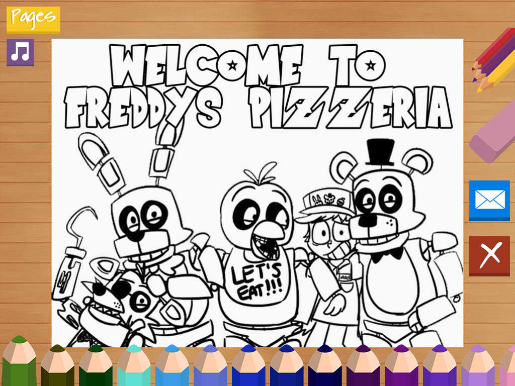 App Shopper Coloring Book For Five Nights At Freddy S