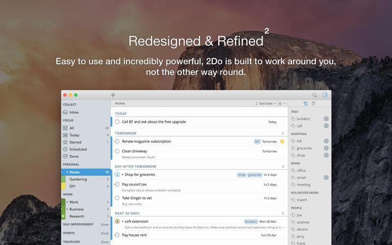 2Do 2.6.17 Mac 破解版 - 优秀的待办事项管理GTD工具