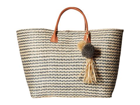 STRIPED SMALL LEATHER TOTE