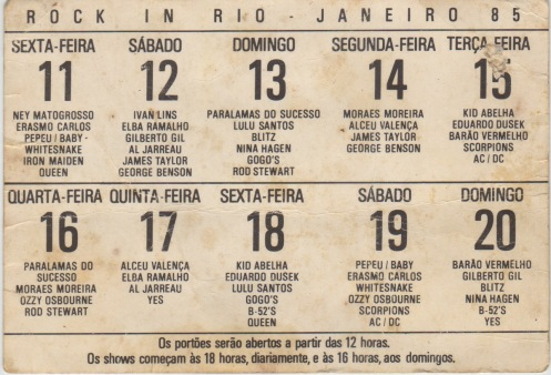 Rock in Rio setlist