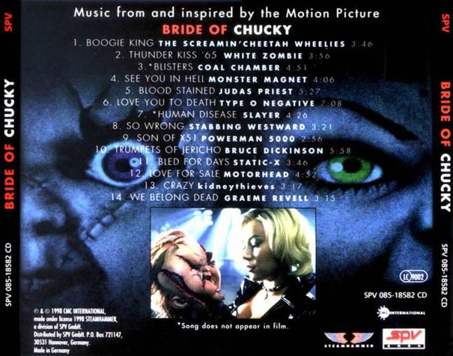 La_Novia_De_Chucky_(Bride_Of_Chucky) soundtracks