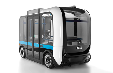 On display at CES 2018 will be the AccessibleOlli, an accessible self-driving vehicle featuring technologies produced by IBM and Local Motors.