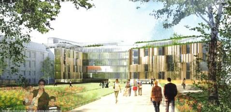 Projet du futur siège du Conseil départemental de Maine-et-Loire (illustration : Frédéric ROLLAND)
