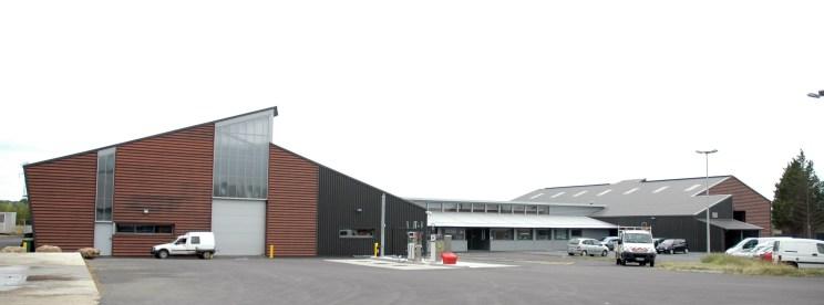 Vue d'ensemble, Services techniques Loire Aubance, Communauté de communes Loire Aubance, Pierre JAHAN, architecte