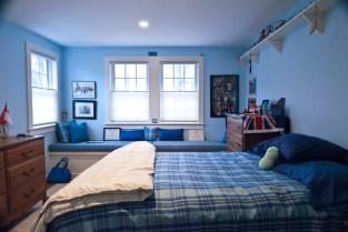 New bedroom with custom built-in window seat