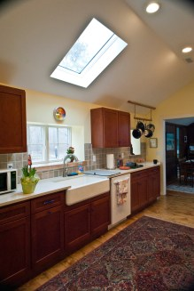 Renovated Kitchen -vaulted ceilings & skylights