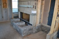 Fireplace at living room