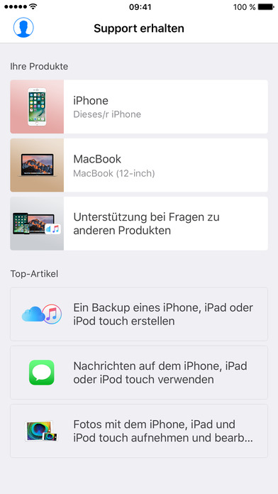 Apple Support Screenshot