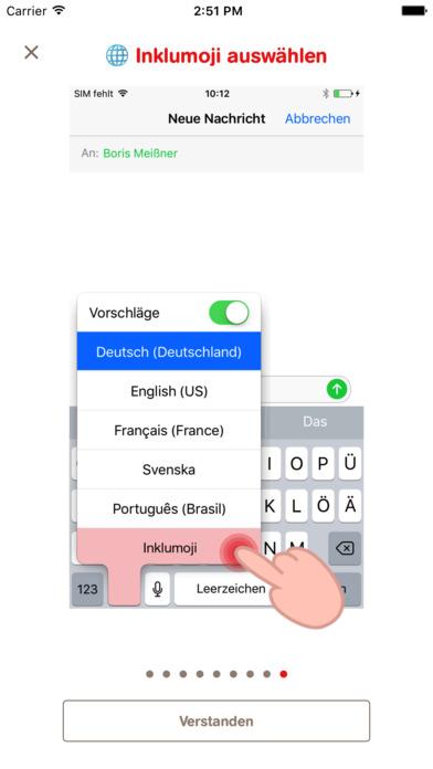 Inklumoji - Emojis der Aktion Mensch für Inklusion Screenshot