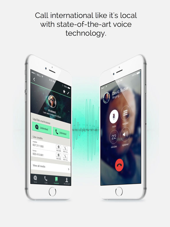 UppTalk - WiFi Calling and Texting with Gifs Screenshot