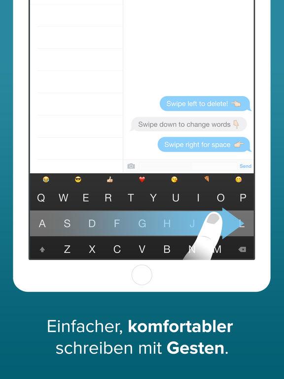 Fleksy Tastatur – GIFs, benutzerdef. Erweiterungen und Motive Screenshot