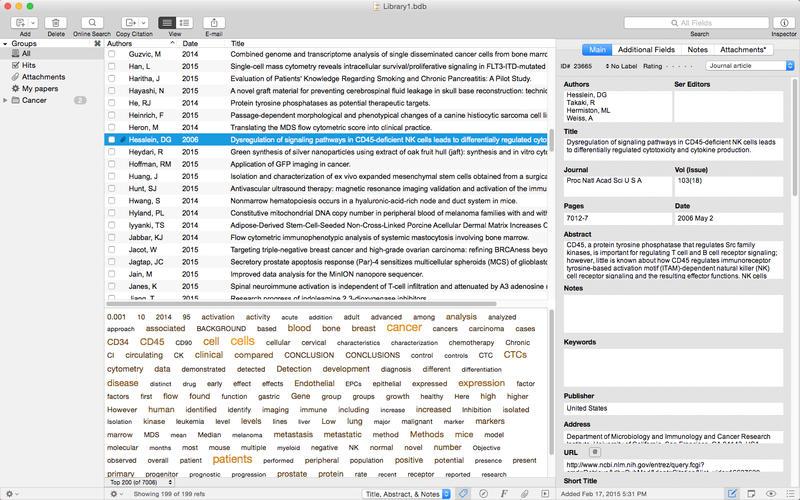 Bookends for Mac 12.7.7 序号版 - Mac上优秀的文献书籍管理工具