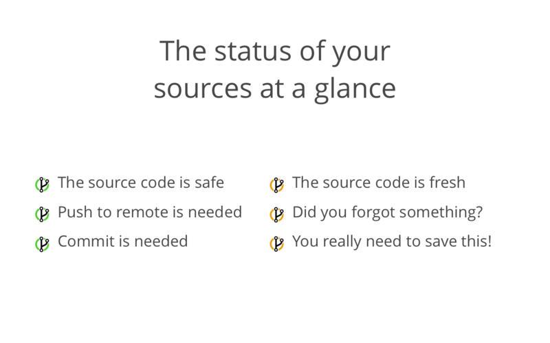 GitBar for Mac 1.2.3 激活版 - Git资源管理菜单栏工具