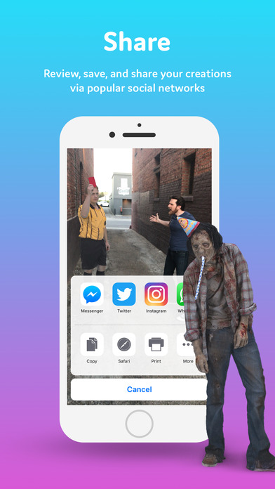 Screenshot do app Holo – Holograms for Videos in Augmented Reality
