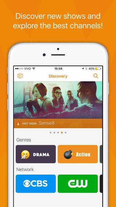 Screenshot do app Showrunner - The smart way to track TV Shows