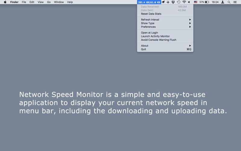 Network Speed Monitor 2.41 Mac 破解版 - Mac上优秀的菜单栏网速监控工具