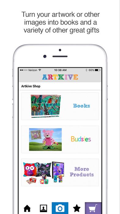 Screenshot do app Artkive - Save Kids' Art