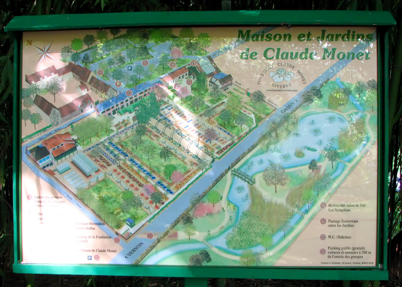 Giverny Monet Garden Map Garden Ftempo