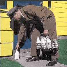 Image result for old milkman delivery pictures