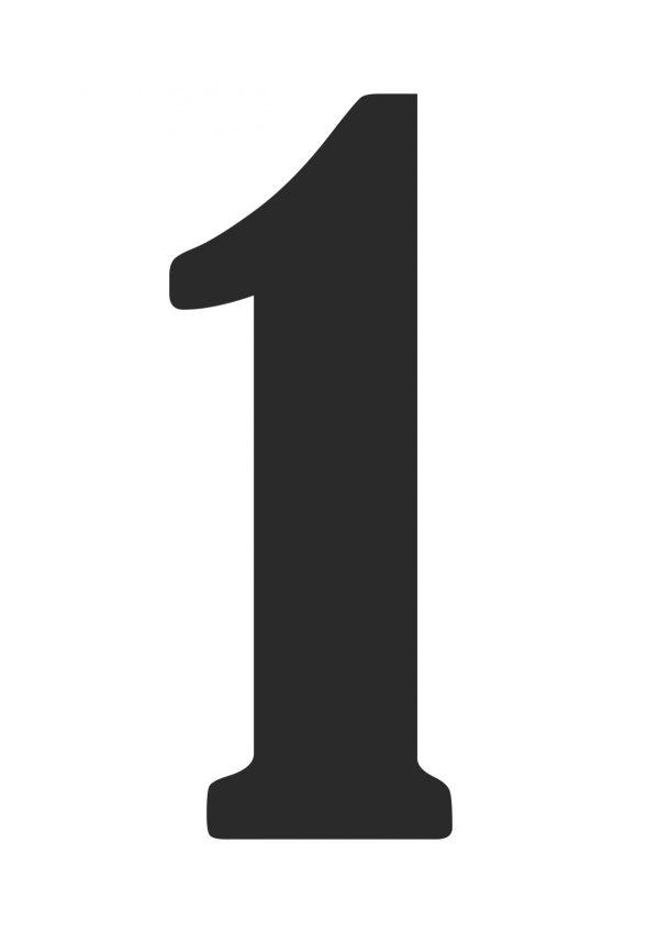 Цифра 1 | Скачать и распечатать на А4
