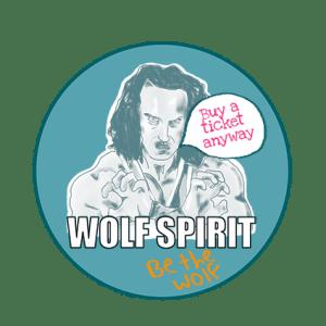 wolf spirit button