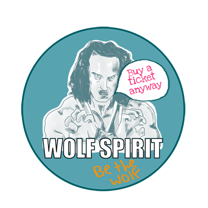 wolf spirit button