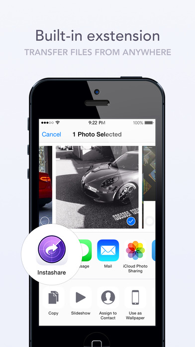 Instashare Air Drop - Transfer files the easy way Screenshot