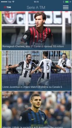App serie A team calcio streaming
