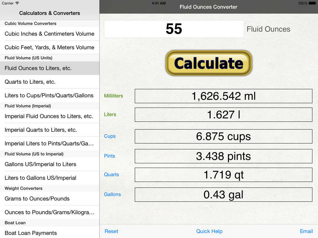 App Shopper Volume Amp Weight Converter Liter Gallon