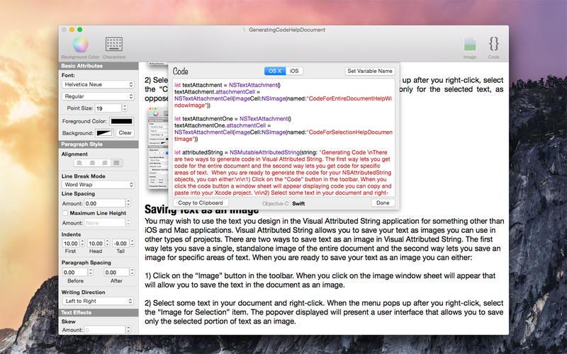 Visual Attributed String 2.4 Mac 破解版 - 属性字符串生成工具